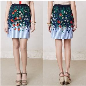 Postmark Vertical Garden Floral Striped Mini Skirt